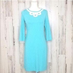 NWT Lilly Pulitzer Embroidered Blue Dress …